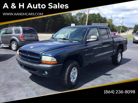 2002 Dodge Dakota for sale at A & H Auto Sales in Greenville SC