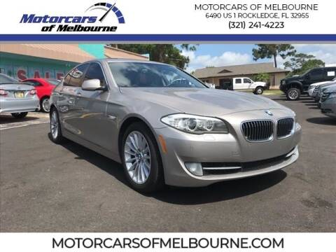 2012 BMW 5 Series for sale at Motorcars of Melbourne in Rockledge FL