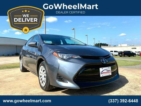 2017 Toyota Corolla for sale at GoWheelMart in Leesville LA