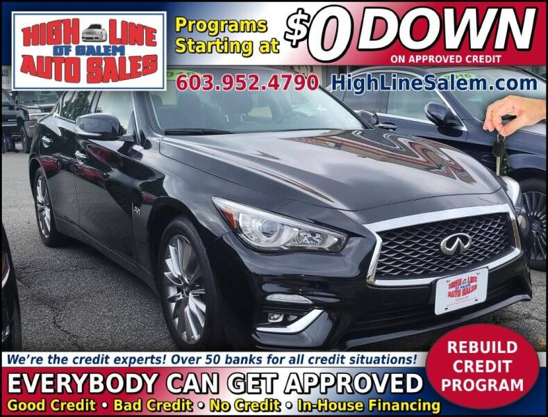 2018 Infiniti Q50 for sale at High Line Auto Sales of Salem in Salem NH