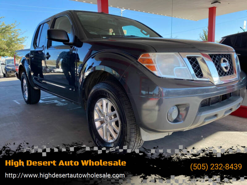 2015 Nissan Frontier for sale at High Desert Auto Wholesale in Albuquerque NM