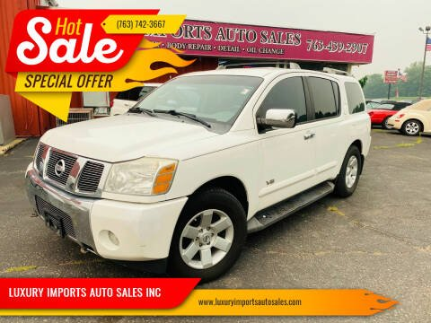 2006 Nissan Armada for sale at LUXURY IMPORTS AUTO SALES INC in North Branch MN