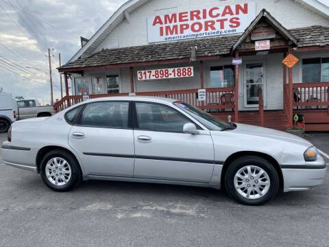 2003 Chevrolet Impala for sale at American Imports INC in Indianapolis IN