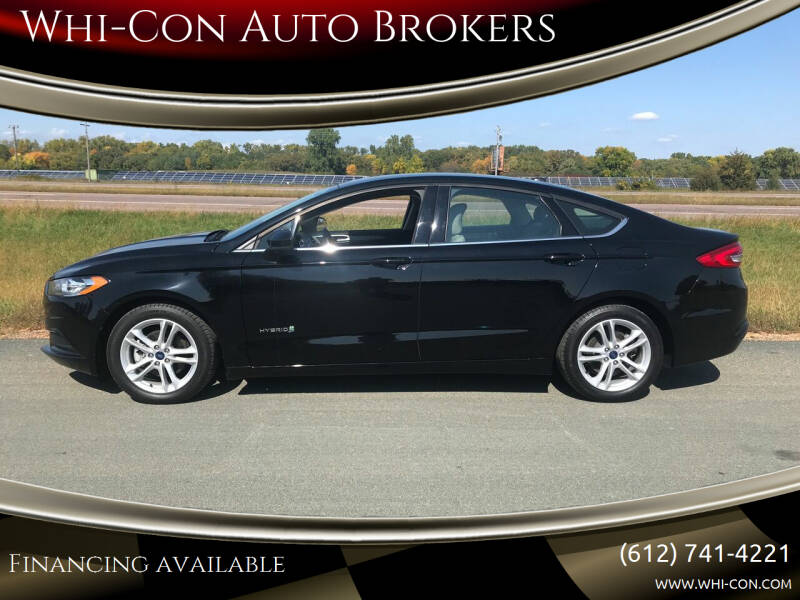2018 Ford Fusion Hybrid for sale at Whi-Con Auto Brokers in Shakopee MN