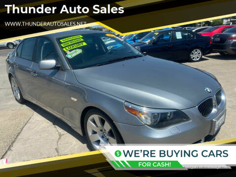 2007 BMW 5 Series for sale at Thunder Auto Sales in Sacramento CA