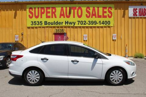 2014 Ford Focus for sale at Super Auto Sales in Las Vegas NV
