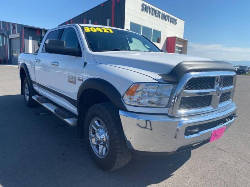 2015 RAM Ram Pickup 2500 for sale at Snyder Motors Inc in Bozeman MT