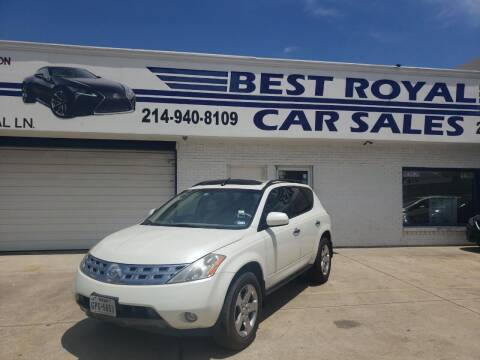 2003 Nissan Murano for sale at Best Royal Car Sales in Dallas TX