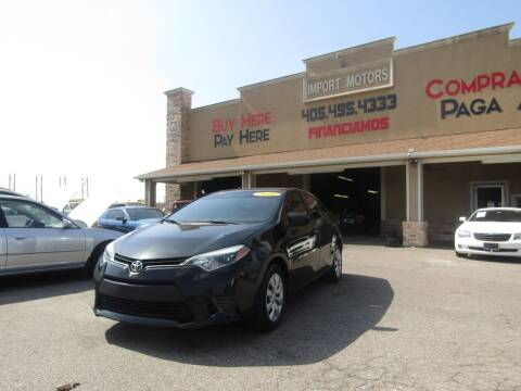 2016 Toyota Corolla for sale at Import Motors in Bethany OK