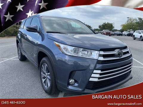 2017 Toyota Highlander for sale at Bargain Auto Sales in West Palm Beach FL