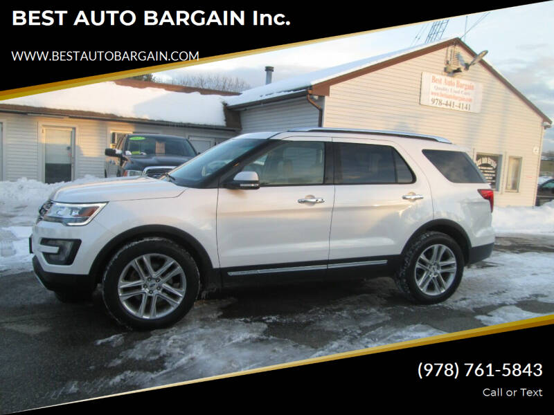 2016 Ford Explorer for sale at BEST AUTO BARGAIN inc. in Lowell MA