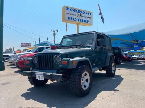 2000 Jeep Wrangler for sale at Borrego Motors in El Paso TX