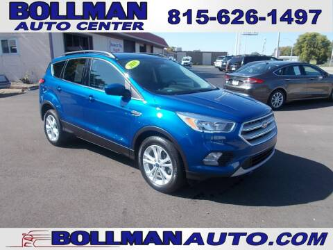 2018 Ford Escape for sale at Bollman Auto Center in Rock Falls IL