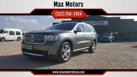 2011 Dodge Durango for sale at Max Motors in Corpus Christi TX