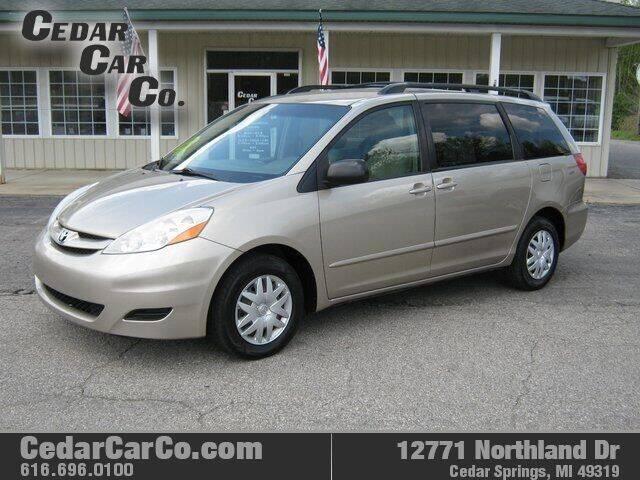 2009 Toyota Sienna for sale at Cedar Car Co in Cedar Springs MI