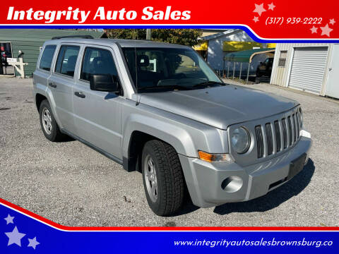 2008 Jeep Patriot for sale at Integrity Auto Sales in Brownsburg IN