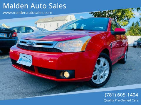 2008 Ford Focus for sale at Malden Auto Sales in Malden MA