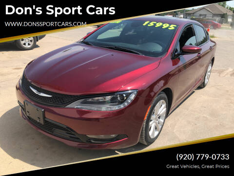 2016 Chrysler 200 for sale at Don's Sport Cars in Hortonville WI
