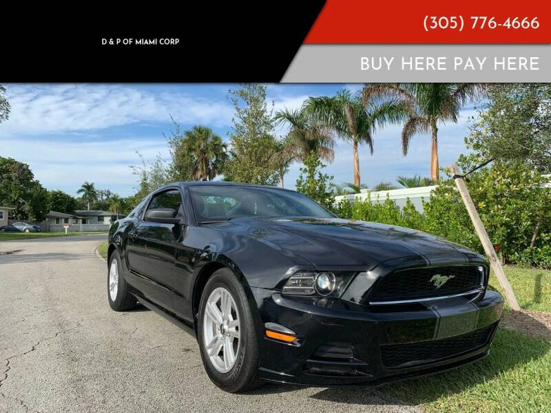 2013 Ford Mustang for sale at D & P OF MIAMI CORP in Miami FL