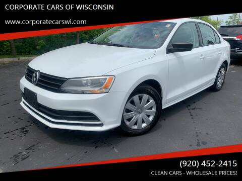 2016 Volkswagen Jetta for sale at CORPORATE CARS OF WISCONSIN in Sheboygan WI