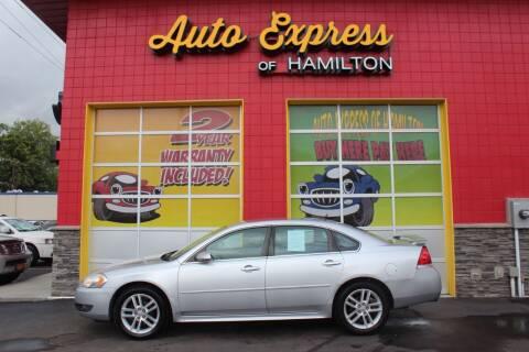 2010 Chevrolet Impala for sale at AUTO EXPRESS OF HAMILTON LLC in Hamilton OH