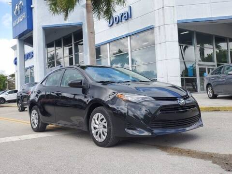 2018 Toyota Corolla for sale at DORAL HYUNDAI in Doral FL