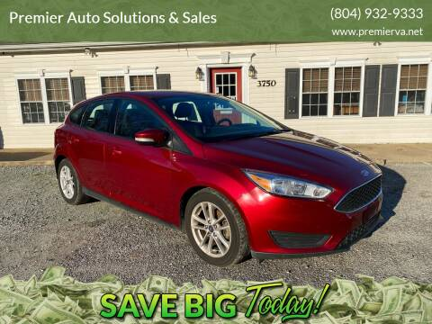 2017 Ford Focus for sale at Premier Auto Solutions & Sales in Quinton VA