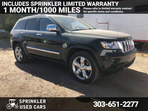 2011 Jeep Grand Cherokee for sale at Sprinkler Used Cars in Longmont CO