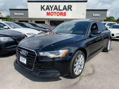 2014 Audi A6 for sale at KAYALAR MOTORS in Houston TX