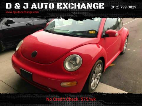 2003 Volkswagen New Beetle for sale at D & J AUTO EXCHANGE in Columbus IN