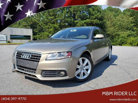 2011 Audi A4 for sale at MBM Rider LLC in Alpharetta GA