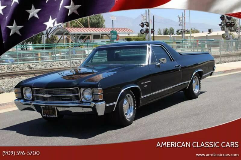 1971 Chevrolet El Camino for sale at American Classic Cars in La Verne CA