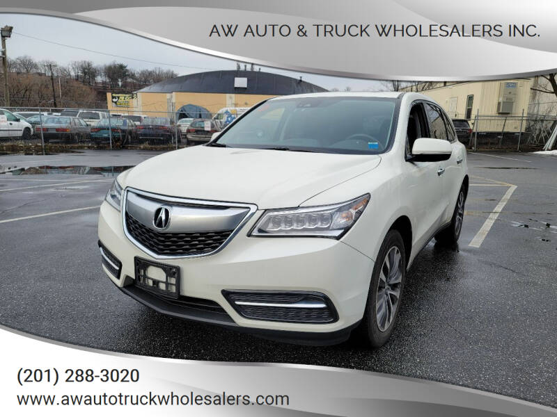 2016 Acura MDX for sale at AW Auto & Truck Wholesalers  Inc. in Hasbrouck Heights NJ