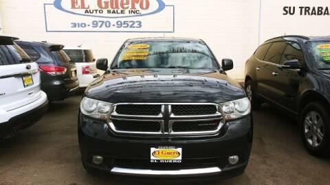 2012 Dodge Durango for sale at El Guero Auto Sale in Hawthorne CA