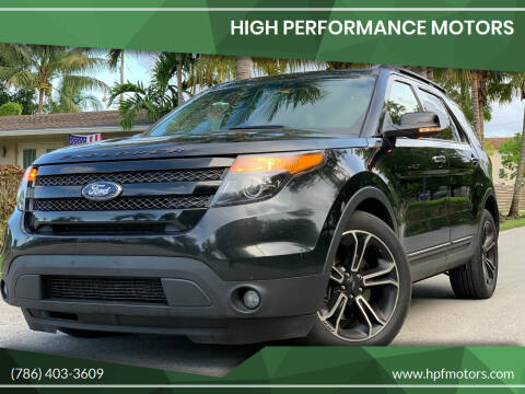 2013 Ford Explorer for sale at HIGH PERFORMANCE MOTORS in Hollywood FL