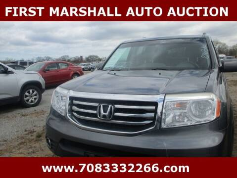 2012 Honda Pilot for sale at First Marshall Auto Auction in Harvey IL