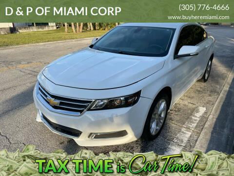 2015 Chevrolet Impala for sale at D & P OF MIAMI CORP in Miami FL