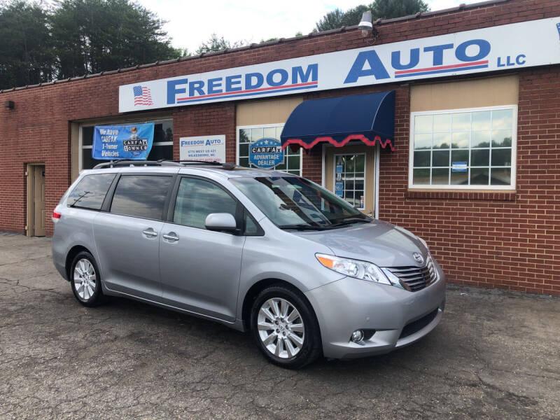 2012 Toyota Sienna for sale at FREEDOM AUTO LLC in Wilkesboro NC