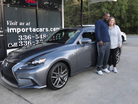 2016 Lexus IS 300 for sale at importacar in Madison NC