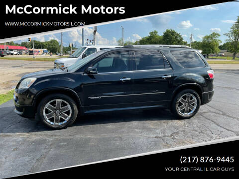 2011 GMC Acadia for sale at McCormick Motors in Decatur IL