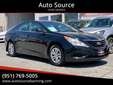 2011 Hyundai Sonata for sale at Auto Source in Banning CA