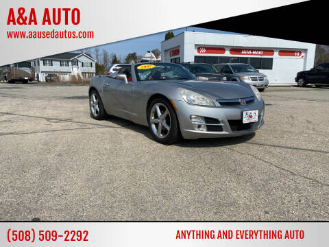 2007 Saturn SKY for sale at A&A AUTO in Fairhaven MA