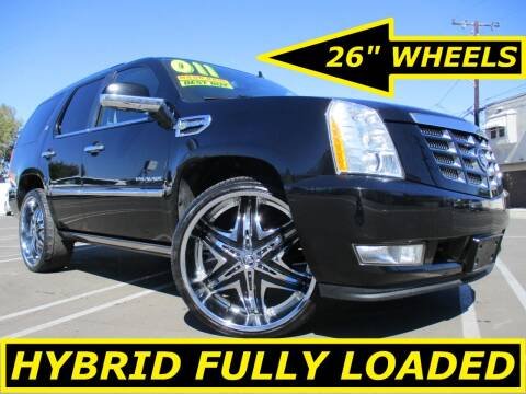 2011 Cadillac Escalade Hybrid for sale at ALL STAR TRUCKS INC in Los Angeles CA