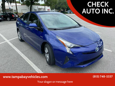 2016 Toyota Prius for sale at CHECK  AUTO INC. in Tampa FL