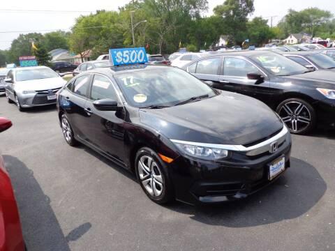 2018 Honda Civic for sale at North American Credit Inc. in Waukegan IL