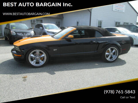 2007 Ford Mustang for sale at BEST AUTO BARGAIN inc. in Lowell MA