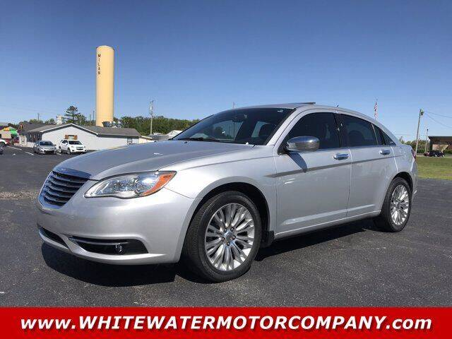 2012 Chrysler 200 for sale at WHITEWATER MOTOR CO in Milan IN