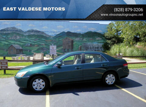 2003 Honda Accord for sale at EAST VALDESE MOTORS / VINSON AUTO GROUP in Valdese NC