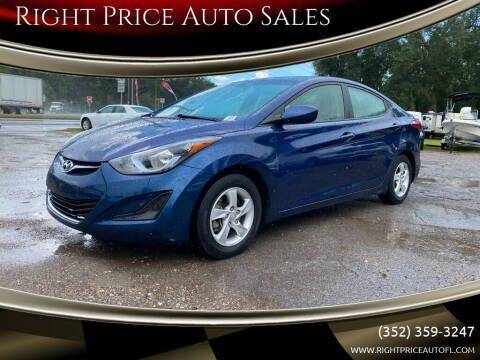 2015 Hyundai Elantra for sale at Right Price Auto Sales in Waldo FL