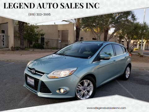 2012 Ford Focus for sale at Legend Auto Sales Inc in Lemon Grove CA